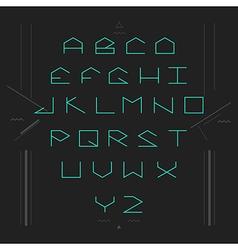 Cyber sans serif lineales geometric font vector image