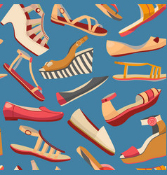 dark shoe seamless pattern vector image