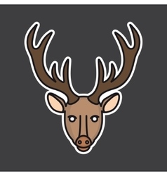 deer head mascot vector image