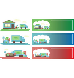 delivery service moving to another house vector image