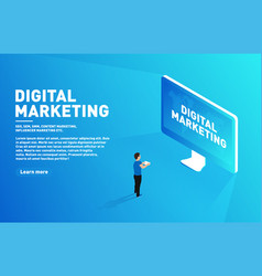 digital marketing concept outbound marketing vector image