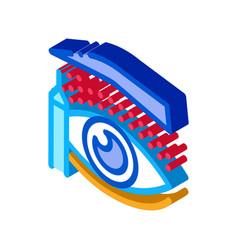 Eyelid surgery design phase isometric icon vector