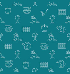 Farm seamless pattern vector