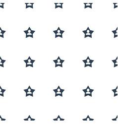 Favourite user icon pattern seamless white vector