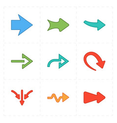 Flat modern arrows vector