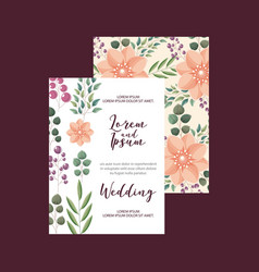 flowers decoration floral wedding card greeting vector image