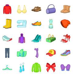 foundation garment icons set cartoon style vector image