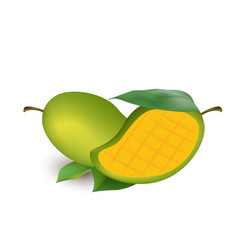 fruit icon mango white background image vector image