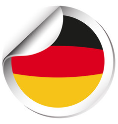 Germany flag on round sticker vector