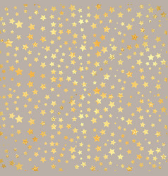 gold star seamless pattern abstract black modern vector image