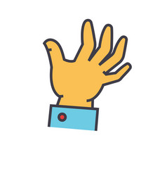 Hand help concept line icon editable vector