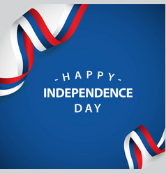happy independent day template design vector image
