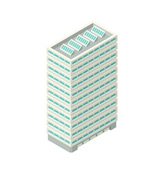 High-Rise Building in Isometric Projection vector
