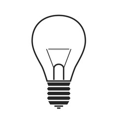 incandescent lamp flat icon object or symbol vector image