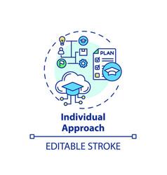 Individual approach concept icon vector