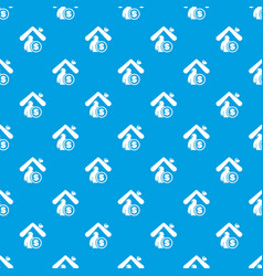 Insurance home pattern seamless blue vector