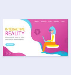 Interactive or virtual reality life simulator vector