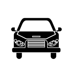 Isolated car vehicle silhouette design vector image