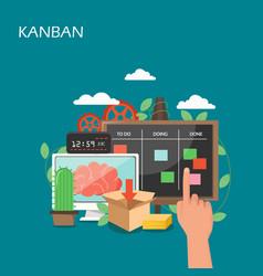 kanban concept flat style design vector image