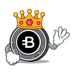 King bytecoin coin mascot cartoon vector