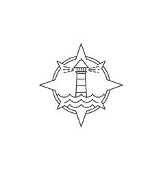 Light house icon vector