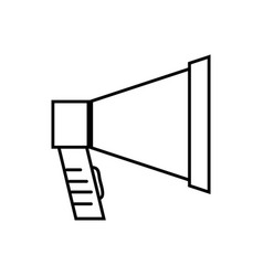 Line megaphone object to speaker audio vector