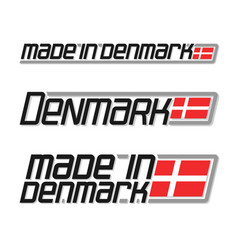 Made in denmark vector