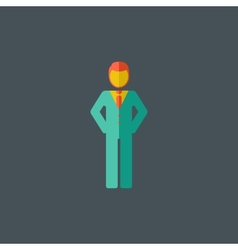Man Flat Icon vector