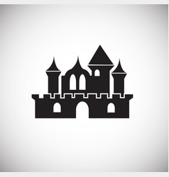 medieval castle on white background vector image