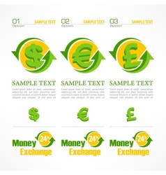 Money symbol infographic vector image