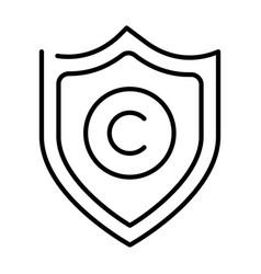 Monochrome copyright protection icon vector