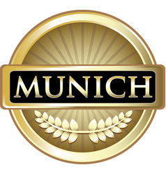 Munich gold label vector