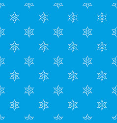 Ninja shuriken star weapon pattern seamless blue vector