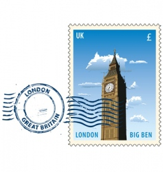 postmark from London vector image