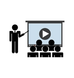 Presentation class icon Audiobooks design vector