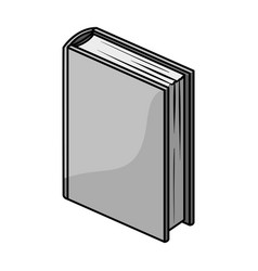 purple standing book icon in monochrome style vector image