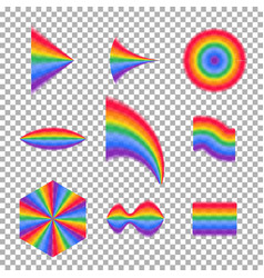 rainbow collection transparent rainbow vector image