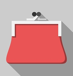 Red purse long shadow vector