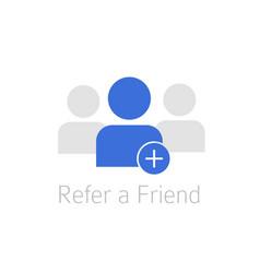 Referral program icon vector