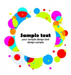 round color background vector image