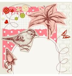 scrapbook design vector image