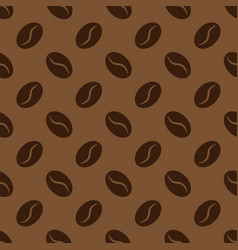 seamless pattern with coffee beans background for vector image