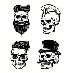 set skull vector image