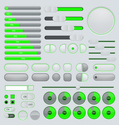 set user interface buttons and elements vector image