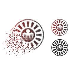 Shredded dotted halftone spectre casino roulette vector