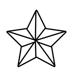 Silhouette star with five points vector
