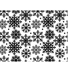 Snowflakes seamless pattern for your design vector
