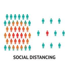 Social distancing concept for prevention corona vector