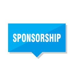 Sponsorship price tag vector