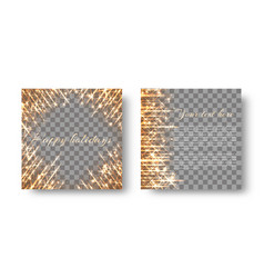 Square background with flickering light vector